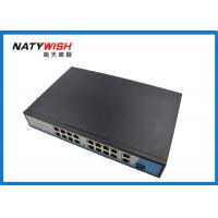 Portable 16 Port POE Network Switch Wide Operating Temperature Range 802.3a Standard Manufactures