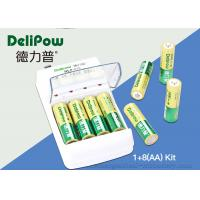Environmental 8 AA 1000mAh Rechargeable Batteries And Charger  Manufactures