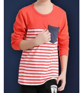 Hiht quality stripe T-shirt cotton polo T-shirt children