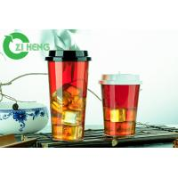 Recyclable Juice Disposable Plastic Cups With Lids Durable Superb Clarity Manufactures