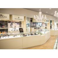 Durable White Coating Custom Jewelry Display Cases / Retail Display Cases Manufactures