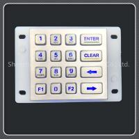 China Ip67 Waterproof Grade Backlit Numeric Keypad For Self Service Car Washing Machine on sale