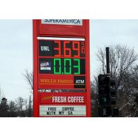 Wireless Digital Led Gas Station Signs , led price display Light Weight Manufactures