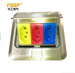 Ground Silver Waterproof Pop Up Floor Outlet , CE Pass Rj45 Floor Socket Manufactures