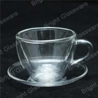 mini double wall thermo glasses with handle, double wall mini wine glasses Manufactures