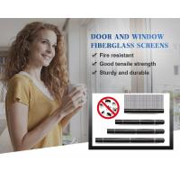 China 18*16 Fiberglass Window Screen , Removable Window Insect Screen Mosquito Nets on sale