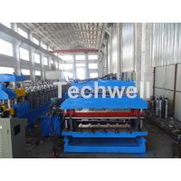 18 Forming Stations Roof Panel Roll Forming Machine , Double Sheet Roll Forming Machine Manufactures