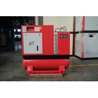 Low Decibel 10hp Small Rotary Screw Air Compressor With Tank / Dryer High Efficiency Manufactures