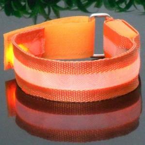 Holiday Orange Reflective LED Armband Manufactures