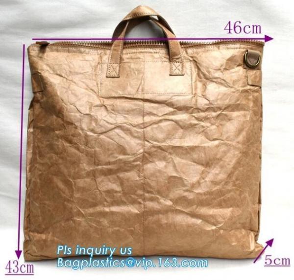 Quality Tyvek paper brown laptop backpack/rucksack, waterproof kids school bag tyvek backpack, drawing tyvek paper backpack for sale