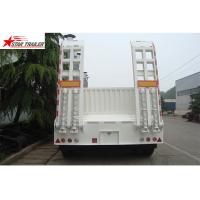 High Point Load Low Flatbed Semi Trailer With Mechanical Suspension Manufactures