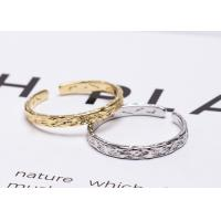 Fashional 925 Sterling Silver Rings New Foil Paper Pattern Opening Ring Manufactures