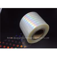 Anti Fake BOPP Holographic Laser Flexible Packaging Film Multiple Extrusion Thickness Manufactures