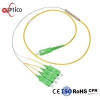 PLC Fiber Optic Splitter Cable Bare Fiber Type 1X4 PLC Mini Metal FTTH Passive Manufactures