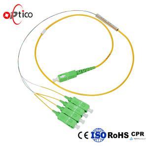 PLC Fiber Optic Splitter Cable Bare Fiber Type 1X4 PLC Mini Metal FTTH Passive Manufactures
