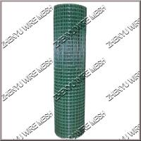 China 0.7/1.5mm green/ black vinyl coated welded wire mesh 1x1 inch PVC coated welded wire mesh 1/2x1/2 3/4x3/4 on sale