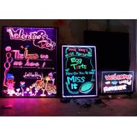 Ultra Thin RGB SMD LED Writing Board Signs 60cm X 40cm Supporting With Tripod Manufactures