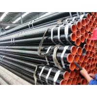 API 5L Astm A53 A106 Seamless Steel Pipe With Black Coating Bevelled End And Caps Manufactures