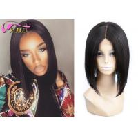 Bob Style Wig Short Human Lace Wig 100% Virgin Hair Middle Part Natural Black Manufactures