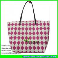 China LUDA red beach women handbags paper straw fashion bags on sale