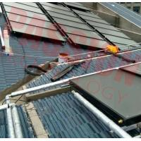 China Solar Energy Rooftop Solar Energy Water Heater Flat Panel Solar Collector Red Copper on sale