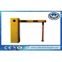 Yellow Car Park Barriers With 1 - 6 meters Straight Boom For Car Parking System Manufactures