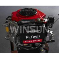 China 22HP vertical shaft air cooled diesel engine for lawn mower on sale