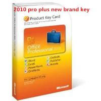 Quality Online Microsoft Office 2010 Product Key Card For Professional Plus 2010 for sale
