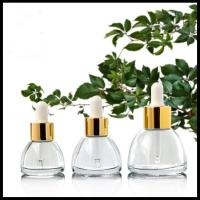 Pagoda Conical Cosmetic Sample Bottle Glass Material 15ml/20ml/30ml Screw Cap Manufactures