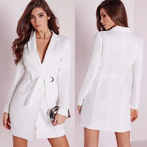 China Fall White Blazer Dress Women Clothing on sale