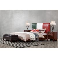 Quality Leather Upholstered Headboard Custom Bed in hotel Guestroom king and queen size for sale