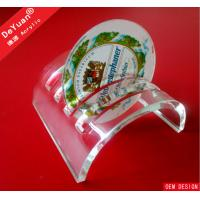 Cambered Acrylic Coaster Display Stand In High Glossy Caffe Use Manufactures