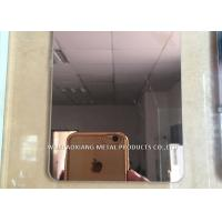 304 Stainless Steel Slit Edge Plate Decorative Surface Finish Rose Golded Manufactures