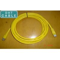 China SSTP Twisted Pair Outdoor CAT6 Ethernet Cable Yellow Color RJ45 Over Mold Connection on sale
