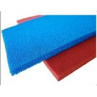 Red Blue Silicone Sponge Sheet Food Grade Silicone Rubber Sheet Open Cell For Iron Table Manufactures