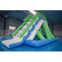 Customized 0.9mm PVC Tarpaulin Inflatable Water Slide For Commercial Use Manufactures