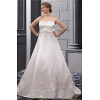 Strapless Sweetheart Plus Size Designer Wedding Gowns Embroidered Sweep Train Manufactures