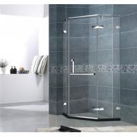 Diamond Shape Frameless Shower Enclosures Stainless Steel Hinge Mirror Color For Hotel Manufactures