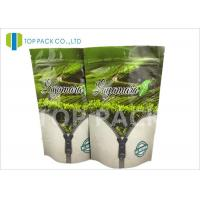 Gravure Printed Flat Foil Stand Up Bags , tea packaging pouch Zip Lock Closure Manufactures