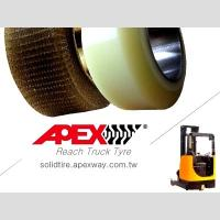 China APEX Reach Truck Tire, Polyurethane Tire, PU Tire for Electric Forklift, Lift Truck on sale