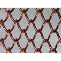 Metal Decorative Wire Mesh Curtain Antique Brass Color For Room Divider Manufactures
