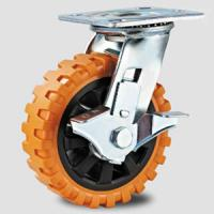 Heavy duty caster , swivel orange PVC caster wheel,transfer facility caster Manufactures