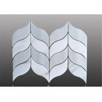 Water Ject Marble Mosaic Floor Tile Leaf Pattern For Floor Decoration Manufactures