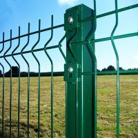 Folding Curved PVC Coated Steel Wire Fencing, Heavy Gauge Wire Fence Panels For School