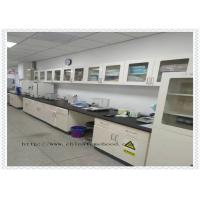 Capacity Above 500kg Full Steel Lab Furniture / Metal Workshop Bench With Reagent Rack Manufactures