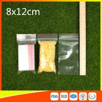 Ldpe Plastic  Reusable Ziplock Bags 8x12 cm With Colorful Line Manufactures