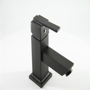 China Seamless Tube Bathroom Black Brass Stainless Steel Faucet on sale