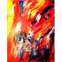Flower Oil Painting Canvas Abstract Paintings Manufactures