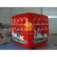Red Inflatable advertising cube balloon with Full digital printing for Opening event Manufactures