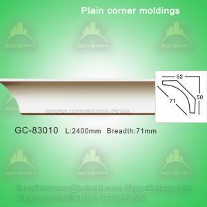 Gypsum Crown Moulding Plain Cornice Moulding For Villa/Hotel/Bungalow Ceiling Decoration Manufactures